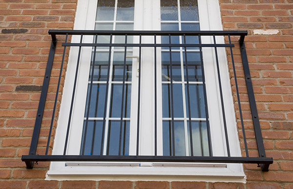 Photo: 'Bently' steel juliet balcony
