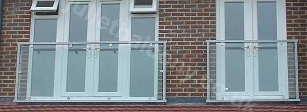 photo: Mirage Glass Balcony in graphite silver