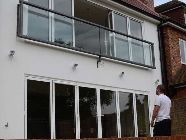 photo: Installed large glass juliet balcony