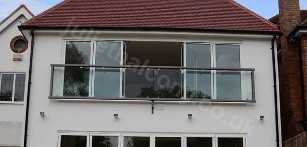 a 6.3m wide glass balcony