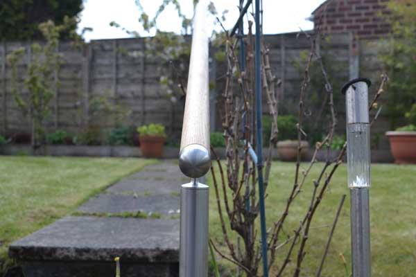 photo: wooden-balustrade-garden-handrail