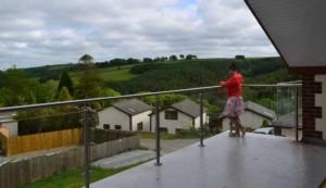 Franklyn glass balustrade and Julie