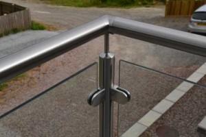 Franklyn glass balustrade corner at Forest Park Lodges