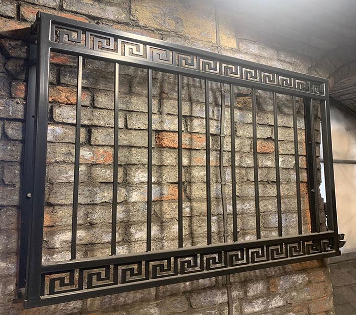 photo: Greek key design juliet balcony won a wall