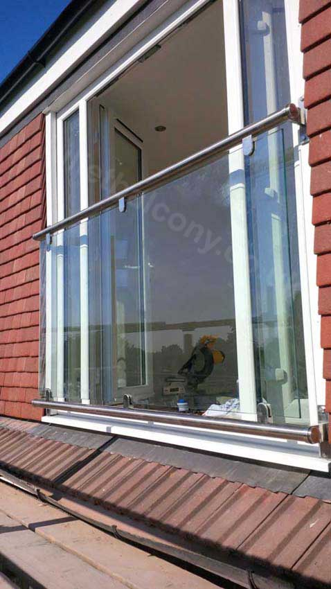 Stylish glass juliet balcony in any size delivery in 2 days for Balcony company