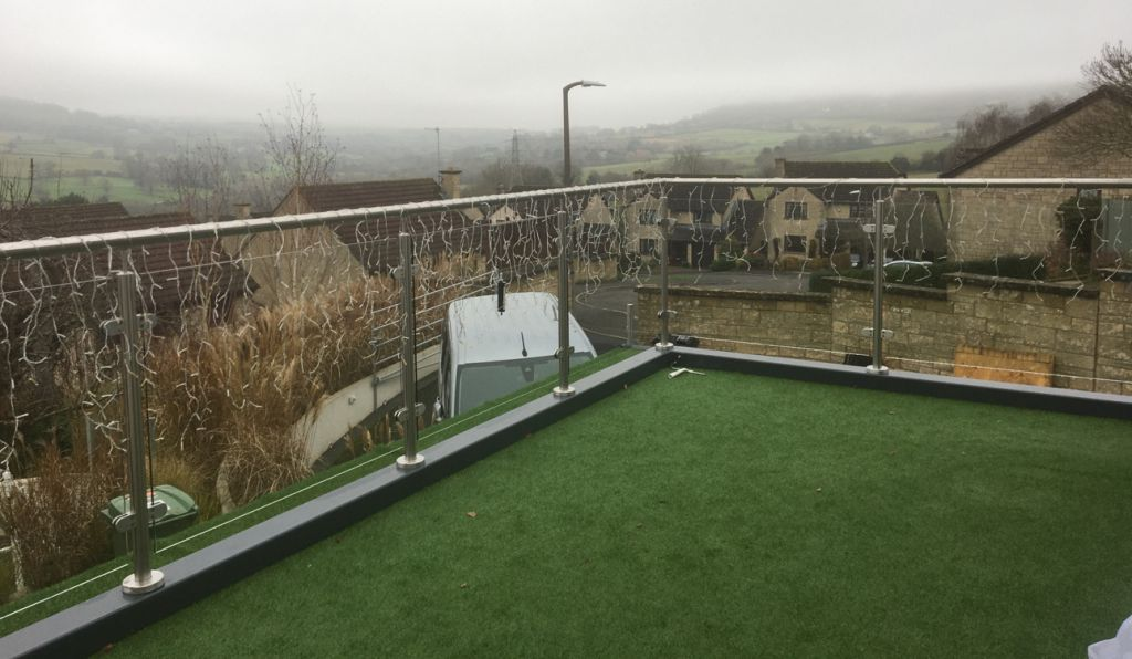 photo: Franklyn steel and glass balustrade