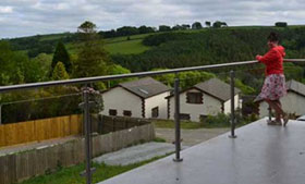 photo: glass balustrade