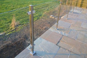 Square Post Glass Balustrade 2