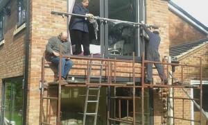Installing the balcony frame