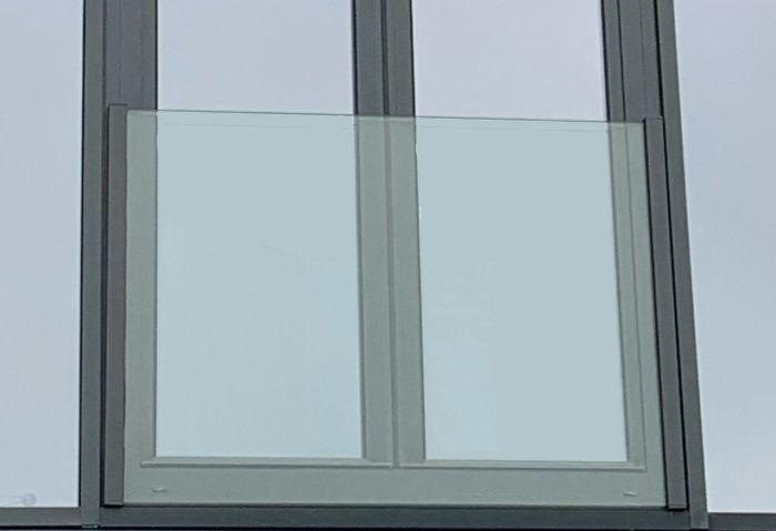 Hilton style glass balcony