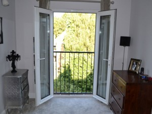 photo: Oxford metal juliet balcony viewed from inside