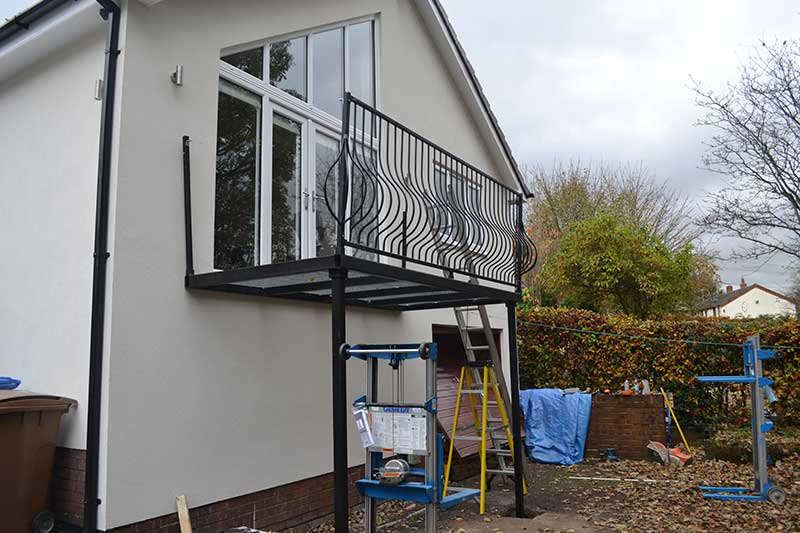 walk on house balconies direct from our workshop