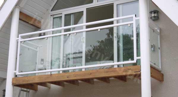 mirage glass balcony in white