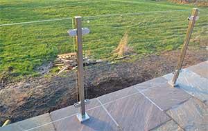 Photo: square post glass balustrade